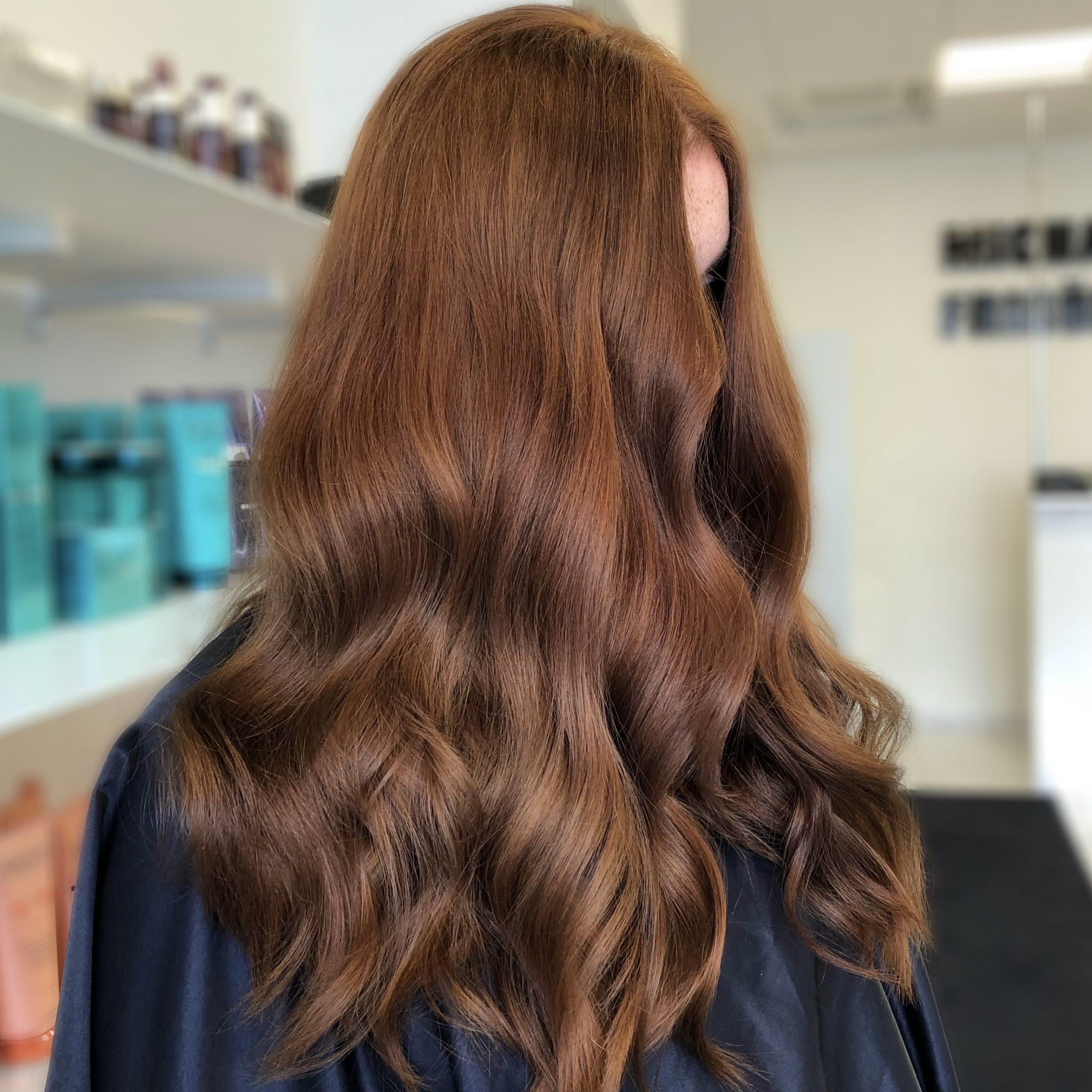 brun hårfärg koppar färg