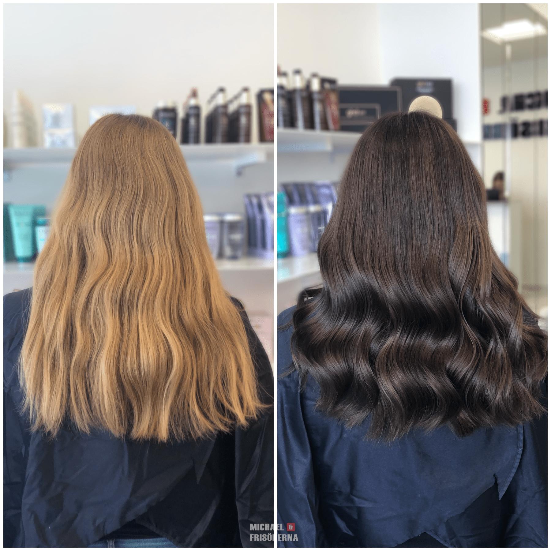 Brun hårfärg
