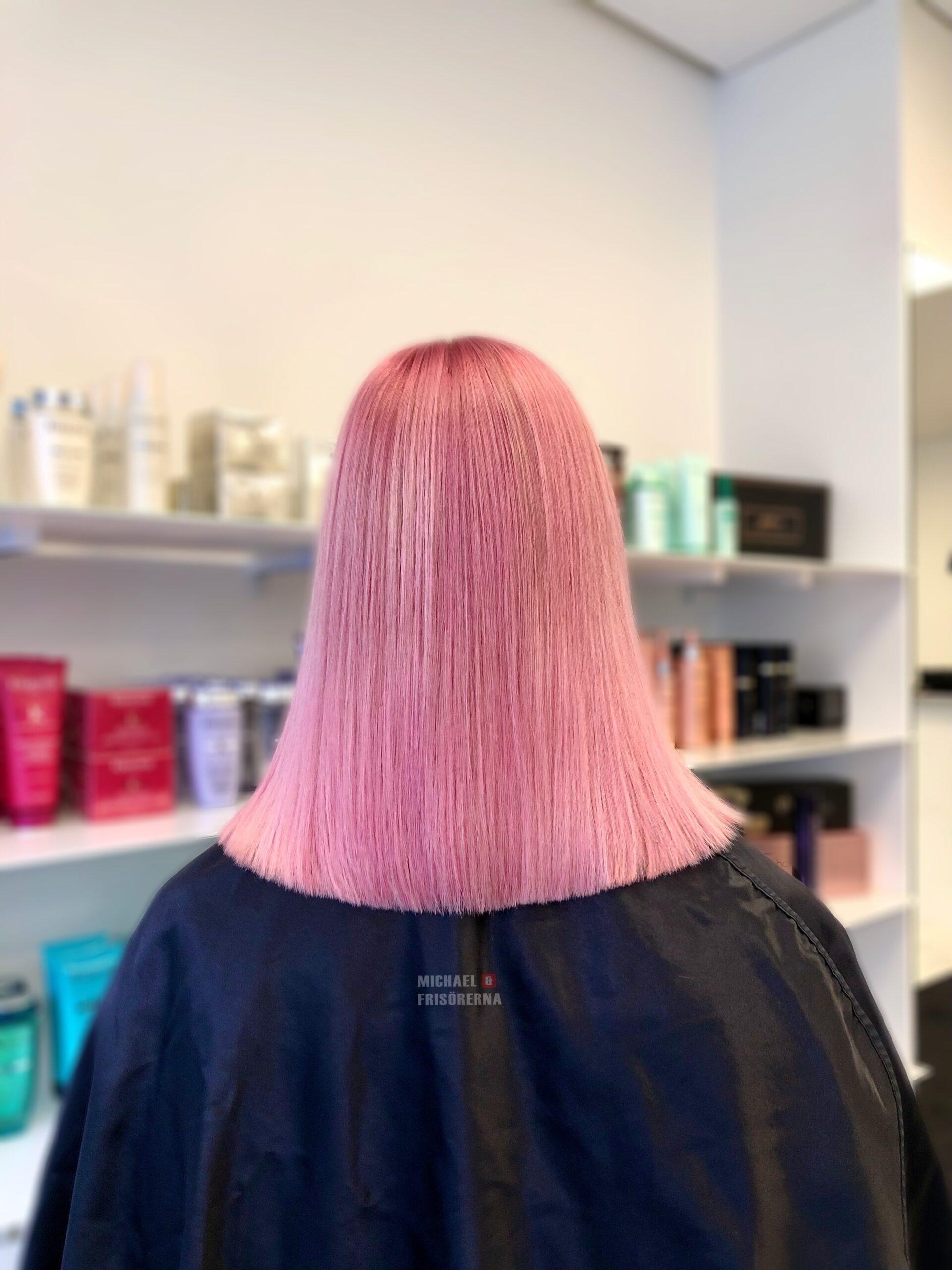 rosa hårfärg