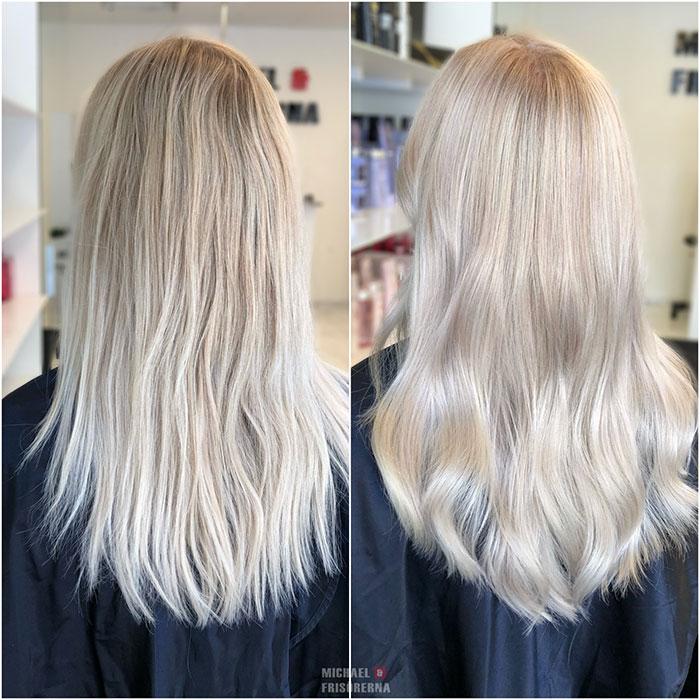 blond loreal olaplex
